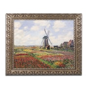"Trademark Fine Art BL0285-G1620F ""Tulip Fields in Holland, 1886"" by Claude Monet 16"" x 20"" Framed Art"