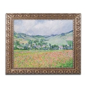 "Trademark Fine Art BL0381-G1620F ""The Poppy Field near Giverny"" by Claude Monet 16"" x 20"" Framed Art"