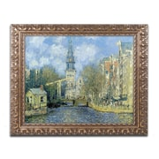 "Trademark Fine Art M226-G1620F ""The Zuiderkerk at Amsterdam"" by Claude Monet 16"" x 20"" Framed Art"