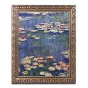 """Trademark Fine Art M241-G1620F """"Water Lilies 1914"""" by Claude Monet 16"""" x 20"""" Framed Art"""
