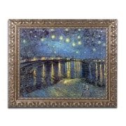 "Trademark Fine Art BL0383-G1620F ""The Starry Night II"" by Vincent van Gogh 16"" x 20"" Framed Art"