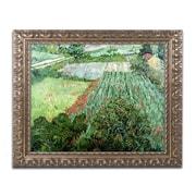 "Trademark Fine Art BL0413-G1620F ""Field with Poppies"" by Vincent van Gogh 16"" x 20"" Framed Art"