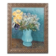 "Trademark Fine Art BL0510-G1620F ""Vase of Flowers"" by Vincent van Gogh 20"" x 16"" Framed Art"