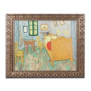 """Trademark Fine Art BL0752-G1620F """"Van Gogh's Bedroom at Arles"""" by Vincent van Gogh 16"""" x 20"""" Framed Art"""