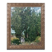 "Trademark Fine Art BL0903-G1620F ""The Cypresses"" by Vincent van Gogh 20"" x 16"" Framed Art"