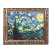 "Trademark Fine Art M212-G1620F ""Starry Night"" by Vincent van Gogh 16"" x 20"" Framed Art"