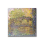 "Trademark Fine Art BL0491-C3535GG ""The Japanese Bridge 1918-24"" by Claude Monet 35"" x 35"" Frameless Art"