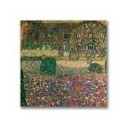 "Trademark Fine Art BL0423-C3535GG ""Country House"" by Gustav Klimt 35"" x 35"" Frameless Art"