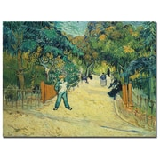 "Trademark Fine Art BL0099-C3547GG ""Public Gardens in Arles, 1888"" by Vincent van Gogh 35"" x 47"" Frameless Art"