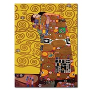 "Trademark Fine Art M208-C3547GG ""Fulfillment"" by Gustav Klimt 47"" x 35"" Frameless Art"