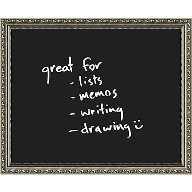 Amanti Art Parisian Silver Glass Dry-Erase Board, 22