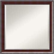 "Amanti Art Country DSW1290262 Wall Mirror 23.8""H x 23.8""W, Brown"