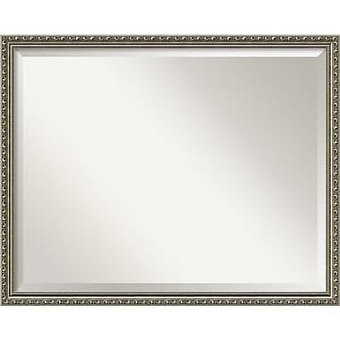 Amanti Art ? Miroir mural Parisian, 23,88 haut. x 29,88 larg. (po), argenté (DSW1290278)