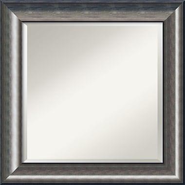 Amanti Art ? Miroir mural Quicksilver, 25,75 haut. x 25,75 larg. (po), argenté (DSW1355985)