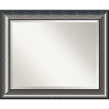 Amanti Art ? Miroir mural Quicksilver, 27,75 haut. x 33,75 larg. (po), argenté (DSW1355989)