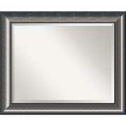 "Amanti Art Quicksilver DSW1355989 Wall Mirror 27.75""H x 33.75""W, Silver"