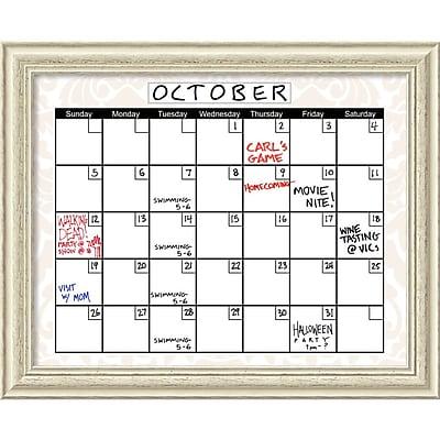 Amanti Art Damask Dry-Erase Board Calendar