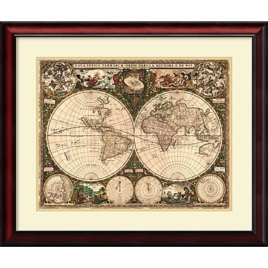 Amanti Art World Map, 1660 Framed Art Print (DSW987320)