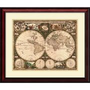 Amanti Art 'World Map, 1660' Framed Art Print