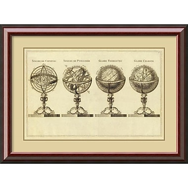 Amanti Art Spheres at Globes, 1791 Framed Art Print (DSW987733)