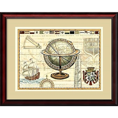 Amanti Art Nautical Map II Framed Art Print (DSW987736)