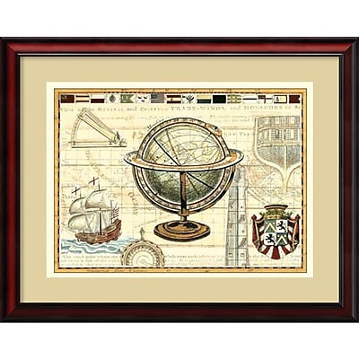 Amanti Art 'Nautical Map II' Framed Art Print