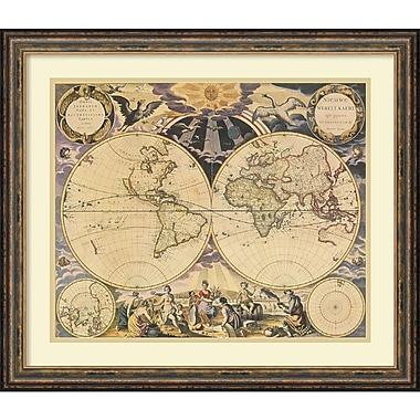 Amanti Art New World Map, 1676 Framed Art Print (DSW991993)