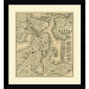 Amanti Art 'Boston, Massachusetts, 1884' Framed Art Print