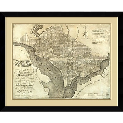 Amanti Art 'Plan of the City of Washington, 1795' Framed Art Print