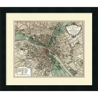 Amanti Art 'Plan de Paris' Framed Art Print