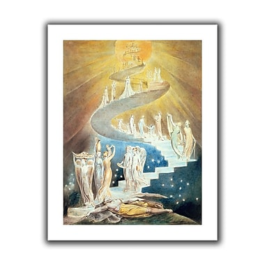 ArtWall Jacobs Ladder' by William Blake Painting Print on Rolled Canvas; 36'' H x 28'' W