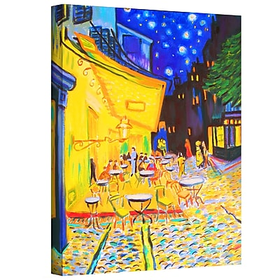 ArtWall 'Caf Terrace by Vincent Van Gogh' by Susi Franco Painting Print on Wrapped Canvas