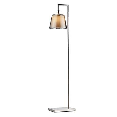 Adesso 1514-22 Prescott Incandescent Floor Lamp, satin steel