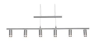 Adesso EOS LED 6-Light Pendant, Brushed Steel (3095-22)