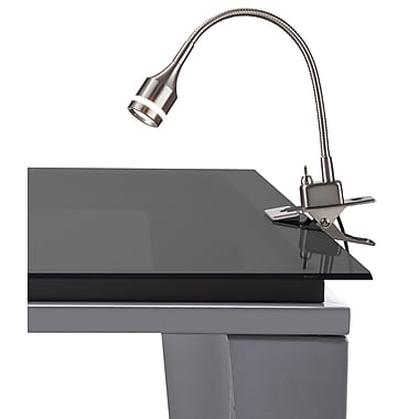 Adesso 3217-22 Prospect LED Table Clip Lamp, satin steel