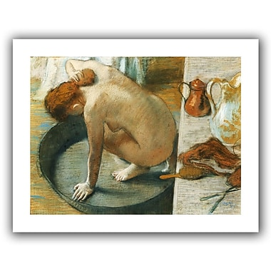 ArtWall The Tub' by Edgar Degas Frame Painting Print on Rolled Canvas; 28'' H x 36'' W