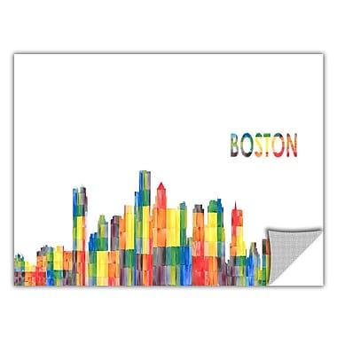 ArtWall ArtApeelz 'Boston' by Revolver Ocelot Graphic Art Removable Wall Decal