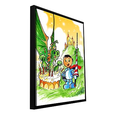 ArtWall 'Knight Kid' by Luis Peres Framed Graphic Art on Wrapped Canvas; 48'' H x 36'' W