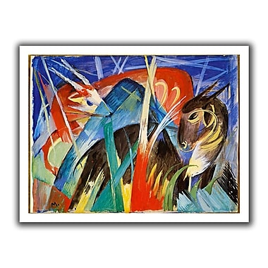 ArtWall Fairy Animals' by Franz Marc Painting Print on Rolled Canvas; 18'' H x 22'' W
