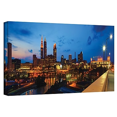 ArtWall 'Cleveland 8' by Cody York Photographic Print on Wrapped Canvas; 16'' H x 48'' W