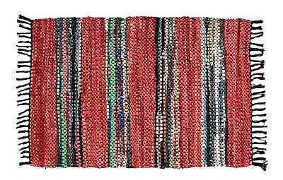 Ess Ess Exports Broadway Handmade Red Area Rug; Rectangle 2' x 3'