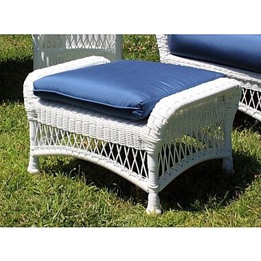 ElanaMar Designs Princeton Ottoman w/ Cushion; Brannon Whisper