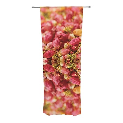 KESS InHouse Close to You Nature / Floral Sheer Rod Pocket Curtain Panels (Set of 2)