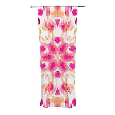 KESS InHouse Batik Mandala Abstract Semi-Sheer Curtain Panels (Set of 2)