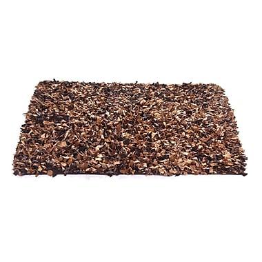 Ess Ess Exports Handmade Brown/Tan Area Rug; 1'9'' x 2'9''