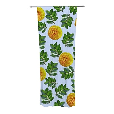 KESS InHouse More Marigold Nature/Floral Semi-Sheer Curtain Panels (Set of 2) WYF078277547828