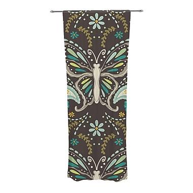 KESS InHouse Butterfly Garden Wildlife Semi-Sheer Curtain Panels (Set of 2)
