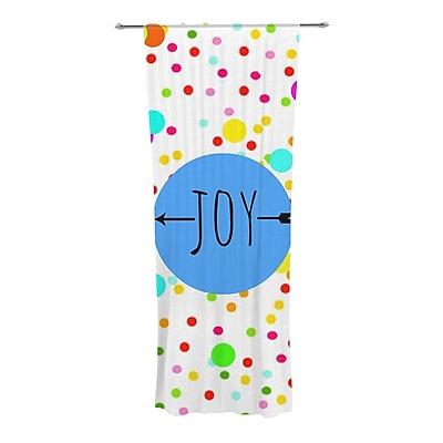 KESS InHouse Oh Joy Graphic Print & Text Semi-Sheer Curtain Panels (Set of 2)