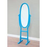 Mega Home Freestanding Mirror; Blue