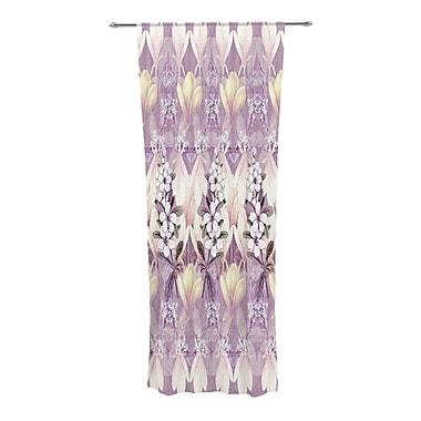 KESS InHouse Laurel85 Nature/Floral Semi-Sheer Curtain Panels (Set of 2)